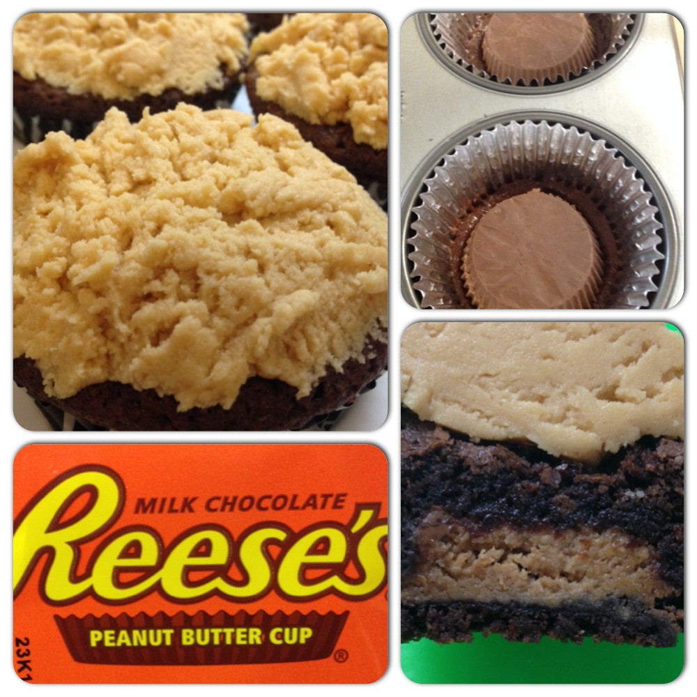 Reese's Peanut Butter Brownies with Peanut Butter Frosting